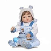 NPK 23 inch silicone baby doll rebuilt 57 cm realistic baby dolls baby boy and girls reborn gift toy christmas gift magnetic baby nipple