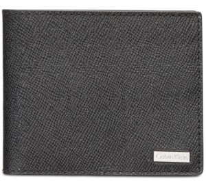 Calvin Klein Men's Saffiano Leather Slim Wallet