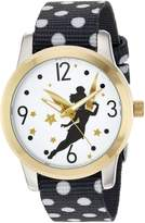 Disney Women's 'Tinker Bell' Quartz Metal and Nylon Casual Watch, Color: (Model: WDS000062)