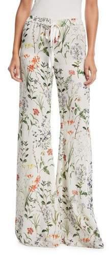 Alexis Pearson Floral-Print Pajama Pants
