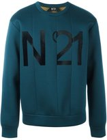 No.21 front logo paneled sweatshirt