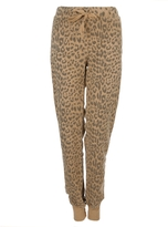 Current/Elliott Leopard Print Perfect Sweatpant In Camel