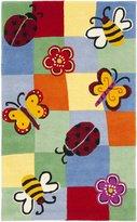 Safavieh Kids Collection SFK753A Handmade Multicolored Cotton Area Rug, 2 feet by 3 feet (2' x 3')