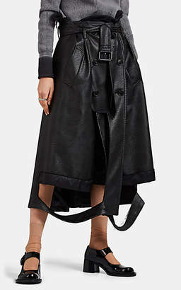 Maison Margiela Women's Deconstructed Trench-Style Skirt - Black