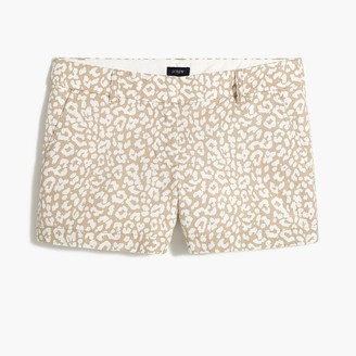 "J.Crew 3.5"" Classic Chino Short In Leopard"