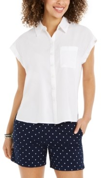 Style&Co. Style & Co Button-Front Short-Sleeve Top, Created for Macy's