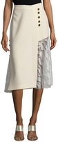 Prabal Gurung Lace Paneled Crossover Skirt