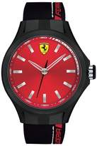 Ferrari 0830219 44mm Stainless Steel Case Black Silicone Mineral Men's Watch