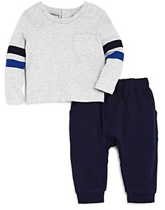 Bloomie's Boys' Stripe-Sleeve Top & Jogger Pants Set, Baby - 100% Exclusive