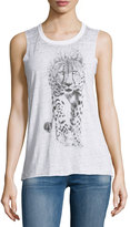 Chaser Snow Leopard Tank Top, White