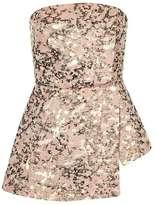 Topshop Camouflage bandeau blouse