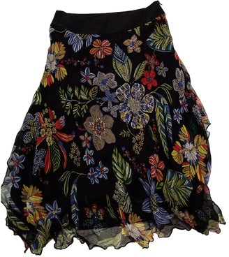 Mariella Rosati Black Silk Skirt for Women