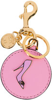 Moschino shoe motif key ring - women - Leather/metal - One Size