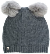 Twin-Set faux fur pom pom beanie - women - Acrylic/Polyester/Wool - One Size
