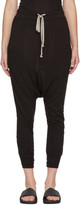 Rick Owens Lilies Black Drawstring Lounge Pants
