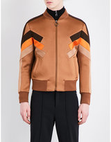 Neil Barrett Contrast-panel Satin Bomber Jacket