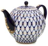 Imperial Porcelain Cobalt Net Large Porcelain Tea Pot