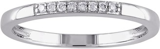 Stella Grace Sterling Silver Diamond Accent Wedding Band Ring