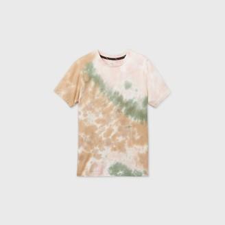 Art Class Boy' Tie-Dye hort leeve T-hirt - art claTM Khaki/Cream