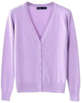 LOVEBEAUTY Women's Long Sleeve V Neck Basic Knit Cardigan Sweater XL