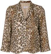Alberto Biani leopard print blazer