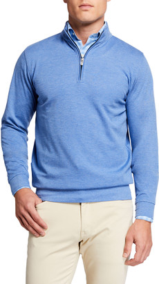 Peter Millar Men's Comfort Interlock Quarter-Zip Sweater