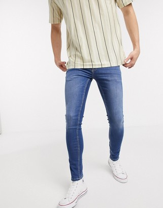 New Look super skinny jeans in bright blue