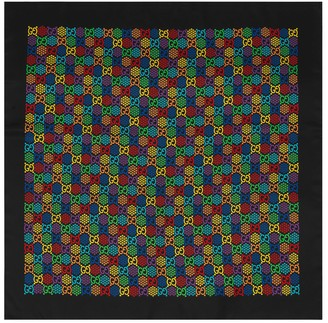 Gucci GG Psychedelic print silk scarf