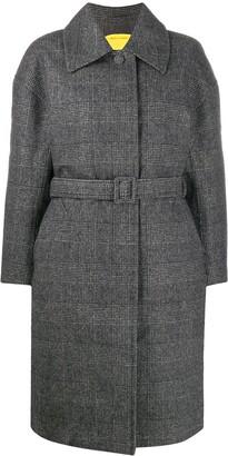 Ienki Ienki Padded Check Belted Coat