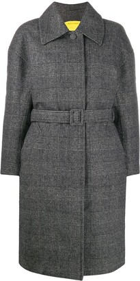 Ienki Ienki Padded Check Belted Coat