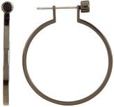 Botkier Gray Tone CZ Studded Hoop Earrings