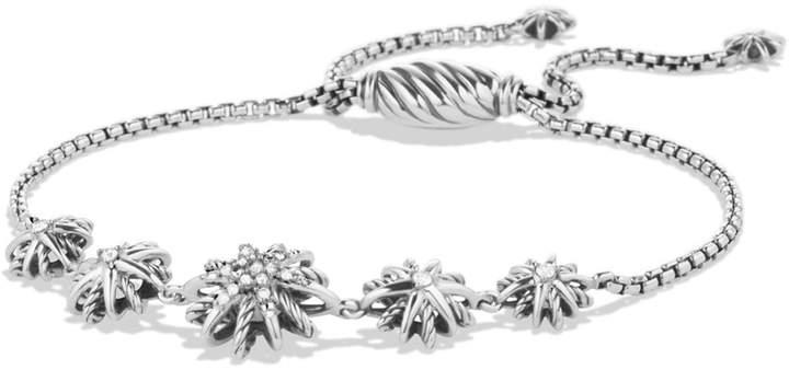 David Yurman 'Starburst' Five-Station Bracelet with Diamonds
