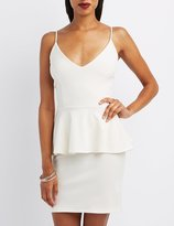 Charlotte Russe Shimmer Textured Peplum Dress