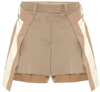 Sacai Wool-blend shorts