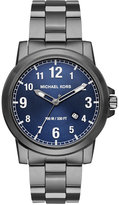 Michael Kors Men's Paxton Gunmetal Ion-Plated Stainless Steel Bracelet Watch 43mm MK8499
