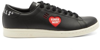 Adidas X Human Made - Heart-cutout Leather Trainers - Black