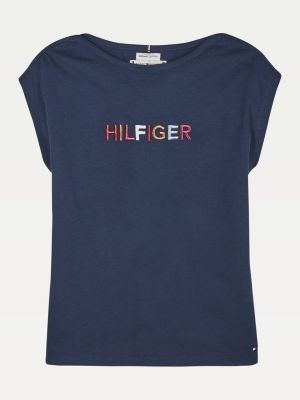 Tommy Hilfiger Logo Embroidery T-Shirt
