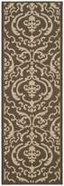 """Safavieh Courtyard Collection CY2663-3409 Chocolate and Natural Indoor/ Outdoor Runner, 2 feet 3 inches by 6 feet 7 inches (2'3"""" x 6'7"""")"""