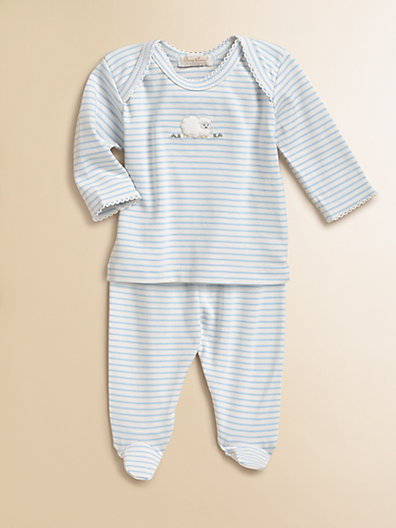 Kissy Kissy Infant's Two-Piece Embroidered Sheep Top & Pants Set