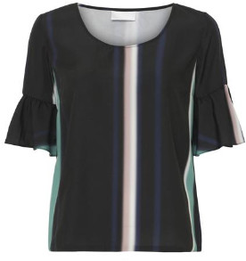 2nd Day Fade Dawn Top - 36/uk 8 - Black/Blue/Grey