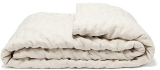 BEIGE Once Milano - Dot-stitched Linen Quilt