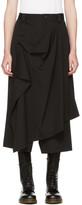 Yohji Yamamoto Black Drape Apron Trousers