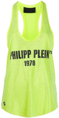 Philipp Plein Logo Embellished Tank Top