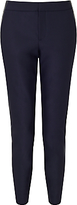 HUGO BOSS BOSS Orange Siledana Faux Leather Trousers, Dark Blue