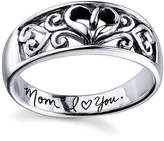 Footnotes Sterling Silver Inscription Ring