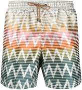 Missoni zigzag print swim shorts