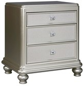Ashley Furniture Coralayne Nightstand - Silver - Signature Design By Ashley
