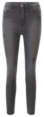 HUGO BOSS Cropped skinny-fit jeans in grey power-stretch denim