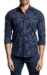 Jared Lang Slim Fit Button-Up Sport Shirt