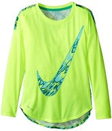 Nike Dri-FIT Modern Long Sleeve Graphic Top (Little Kids)